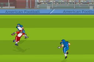 小游戏 橄榄球/移动键盘方向键↑↓←→控制球员移动,Ctrl键+→跳跃,空格键+...