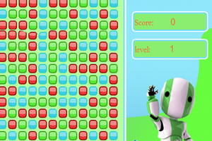 机器人消方块
