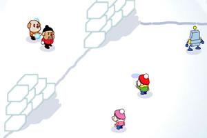 tobby打雪仗