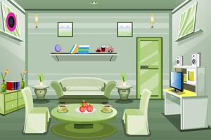 现代绿色房间逃生