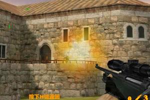 小游戏 狙击王/瞄准射击使用鼠标瞄准射击,按住空格键打开瞄准镜,R键更换...
