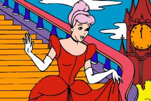 灰姑娘公主装上色