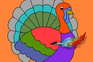 感恩节彩图上色