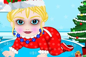 宝贝艾尔莎圣诞节装扮