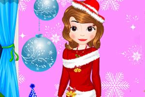 索菲亚圣诞节装扮
