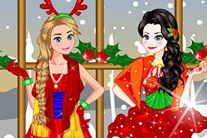 冰雪姐妹迎圣诞