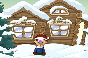 圣诞老公公打雪仗
