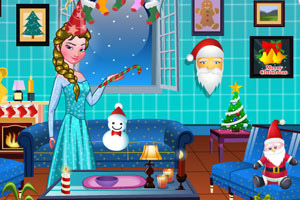 艾莎的圣诞节房间