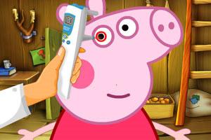 粉红小猪看眼睛
