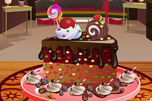 装饰美味的生日蛋糕