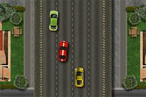 红色汽车公路狂飙