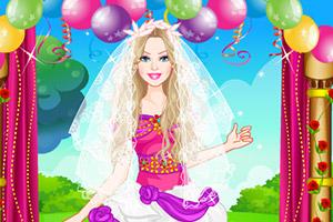 芭比多彩新娘装