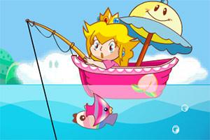 桃子公主爱钓鱼