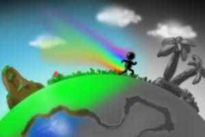 彩虹人酷跑