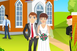 教堂婚礼之吻