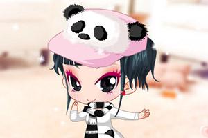 可爱的熊猫服2