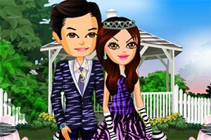 时尚的新婚夫妻
