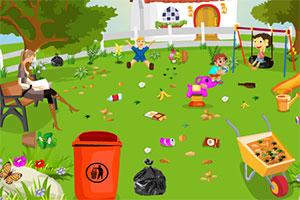 儿童公园的清洁