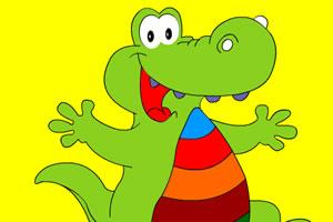 骄傲的鳄鱼上色