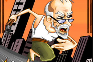 被追赶的老头玩起了跑酷(Grandpa Run 3d)
